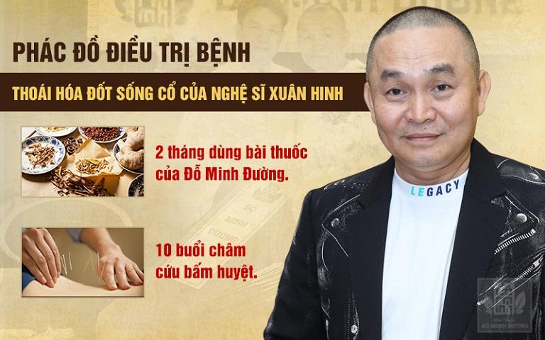 Nghệ sĩ Xuân Hinh điều trị thoái hóa đốt sống cổ tại nhà thuốc Đỗ Minh Đường