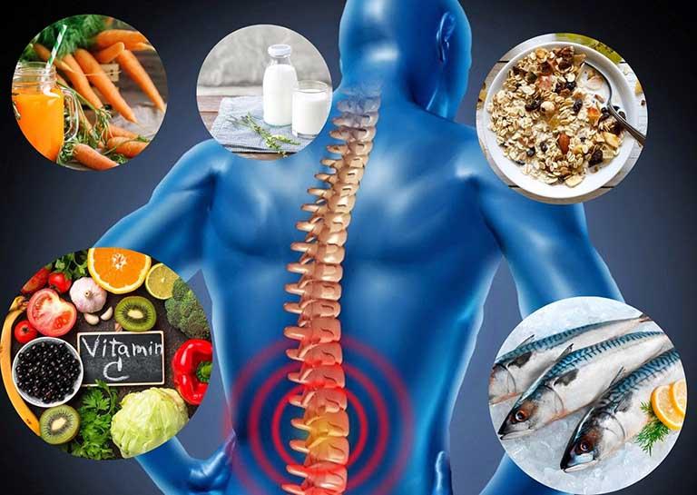 Thoái hoá cột sống ăn gì? kiêng gì